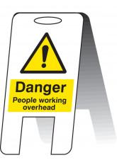Danger People Working Overhead (Lightweight Standing Folding Sign)
