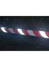 Red & White Non-adhesive Reflective Barrier Tape - 75mm x 250m