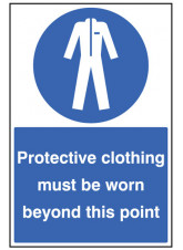 Protective Clothing Must be Worn - Floor Graphic