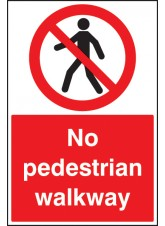 No Pedestrian Walkway - Floor Graphic