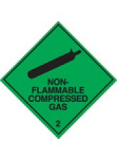 Roll of 100 Non-Flammable Compressed Gas 2 Labels - Roll of 100 100mm