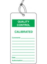 QC Tag - Calibrated (Pack of 10)