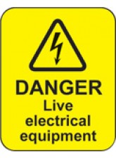 Danger Live Electrical Equipment Labels
