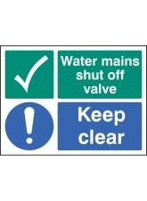 Water Mains Shut Off Valve Keep Clear