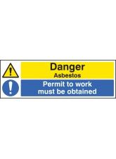 Danger Asbestos Permit to Work Must Be Obtained
