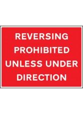 Reversing Prohibited Unless Under Direction