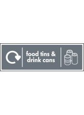 WRAP Recycling Sign - Food Tins & Drink Cans