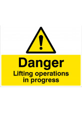 Danger - Lifting Operations in Progress