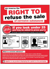 We Reserve the Right to Refuse the sale of Corrosive Substances