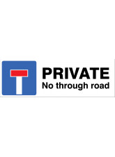 Private - No through road