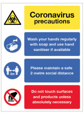 Coronavirus Precautions Multi-Message