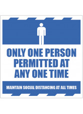 Only One Person Permitted at any one Time