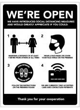 We're Open - Social Distancing Measures